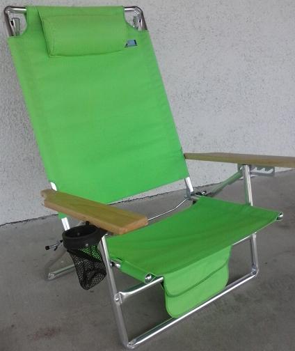 Heavy Duty Deluxe Aluminum Beach Chair