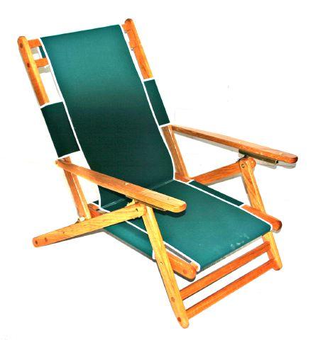 Oak And Canvas Lo Boy Beach Chair :: Beach Stuff :: Big Bills Beach Stuff