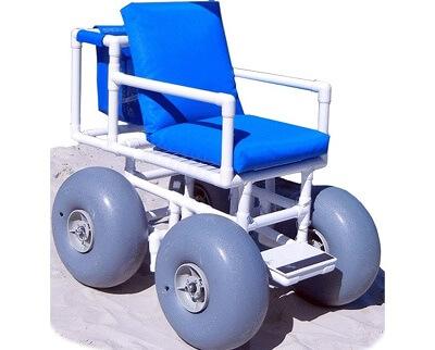Beach Wheelchair (Large balloon tires)